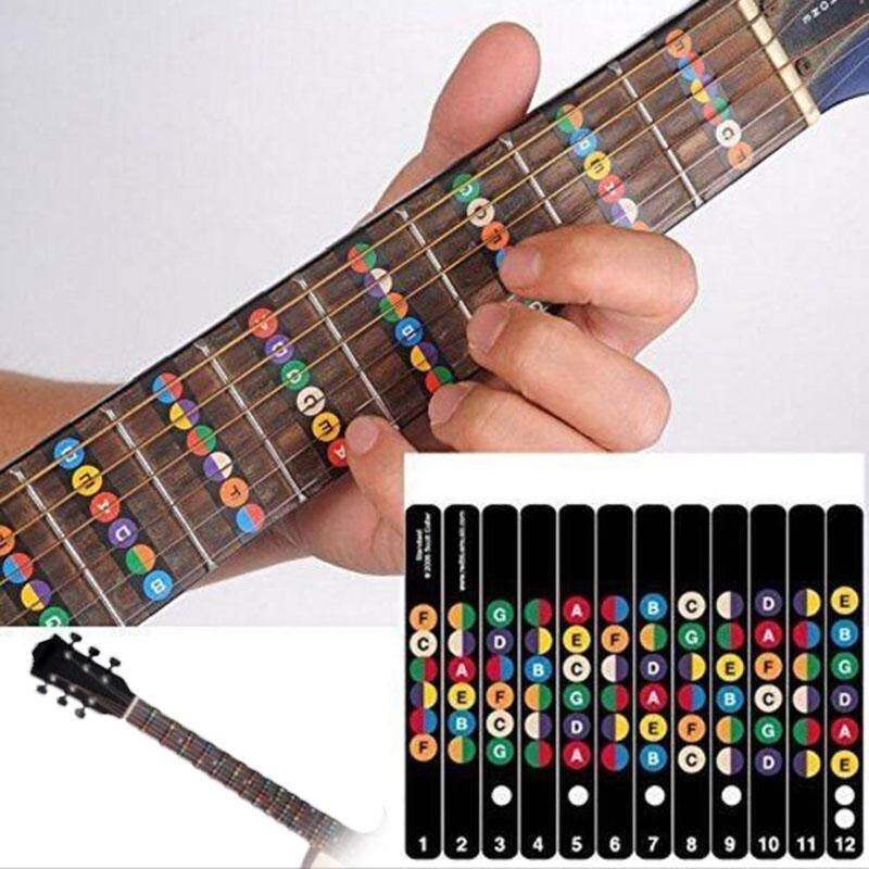MagicWorldMall Musical Instrument Accessories Guitar Scale Stickers  Student Guitar Bass Fretboard Scale Sticker Fingerboard Malaysia