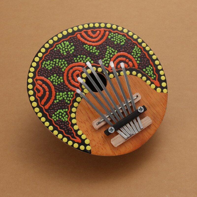 MEGA Thumb Piano 7 keys Tunable Coconut Shell Painted - intl