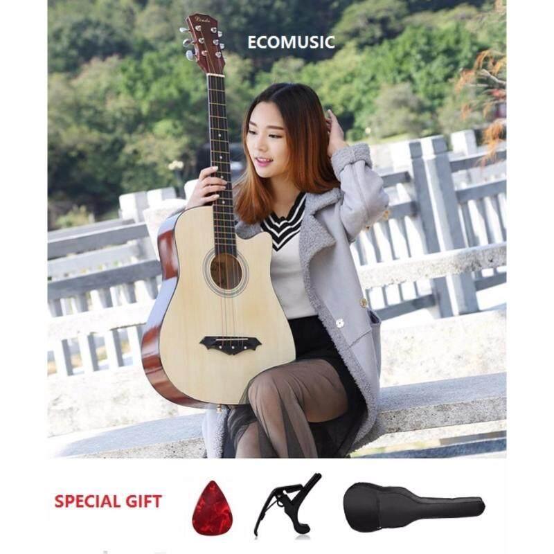 MEGA SALES JZL Acoustic Folk Cutaway Guitar 38 Inch FREE Guitar Bag+Capo Clamp+Pick Malaysia
