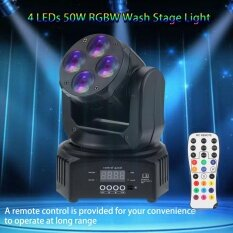 Mini 4 50w Wash Rotating Moving Head Stage Effect Light 9/15 Channel Dmx512 Sound-Activated With Remote Control Indoor Disco Ktv Club Party By Koko Shopping Mall.