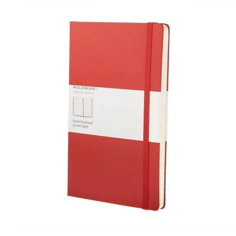 Moleskine Ruled Red Notebook - Large - Hard Cover Malaysia