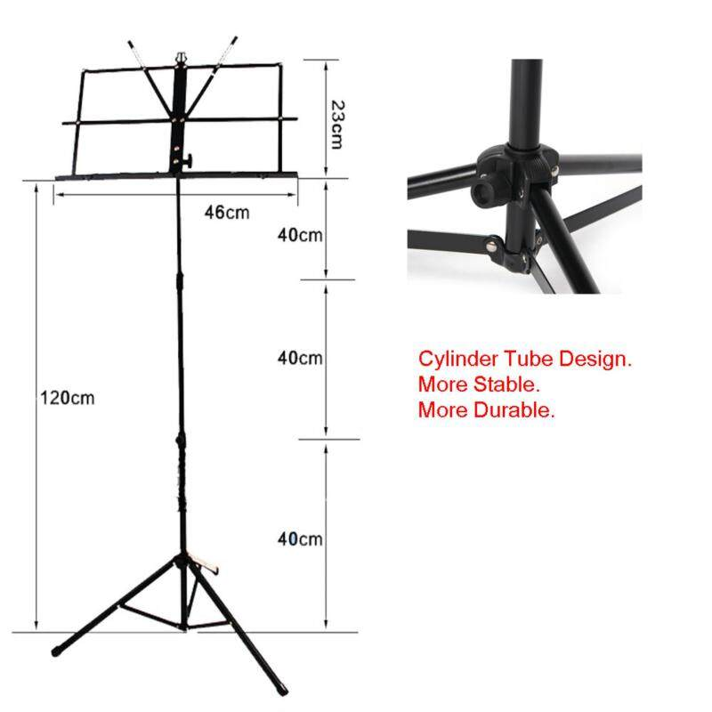 MS001 Folding Music Stand / Sheet Music Stand with Carry Bag Malaysia