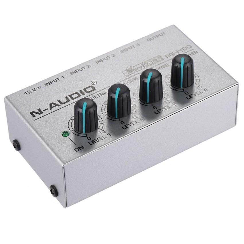 MX400 ULTRA COMPACT LOW NOISE 4 CHANNELS LINE MONO AUDIO MIXER WITH POWER ADAPTER OUTDOORFREE &check