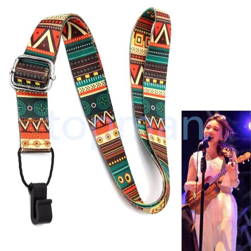 New Adjustable Nylon Ukulele Strap Belt Sling Bag Snap-on Ukulele Strap With Hook For Ukulele Guitar Malaysia