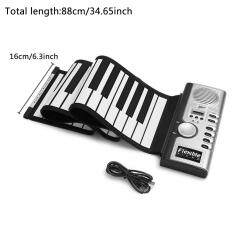 Niceeshop 61 Key Portable Electronic Piano Keyboard Foldable Silicone Roll Up Piano Keyboards Built-In Loudspeaker For Kids Children By Nicee Shop.