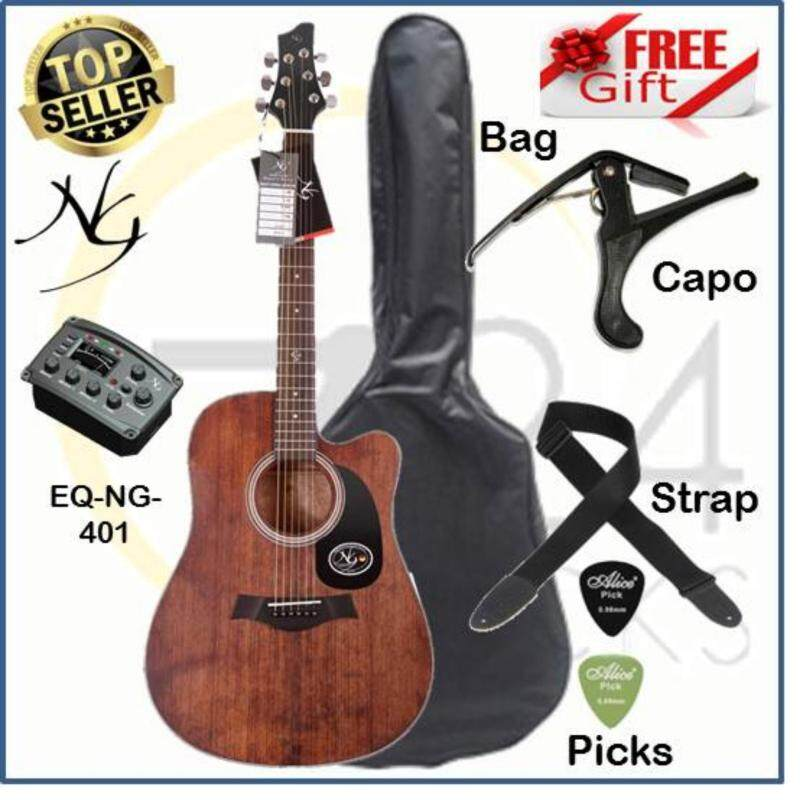 Northerly Gale Germany Designed Standard Size 41 Inch Dreadnought Cut-Away Acoustic Electric Guitar S411CE FREE Bag, Capo, Strap & Picks Malaysia