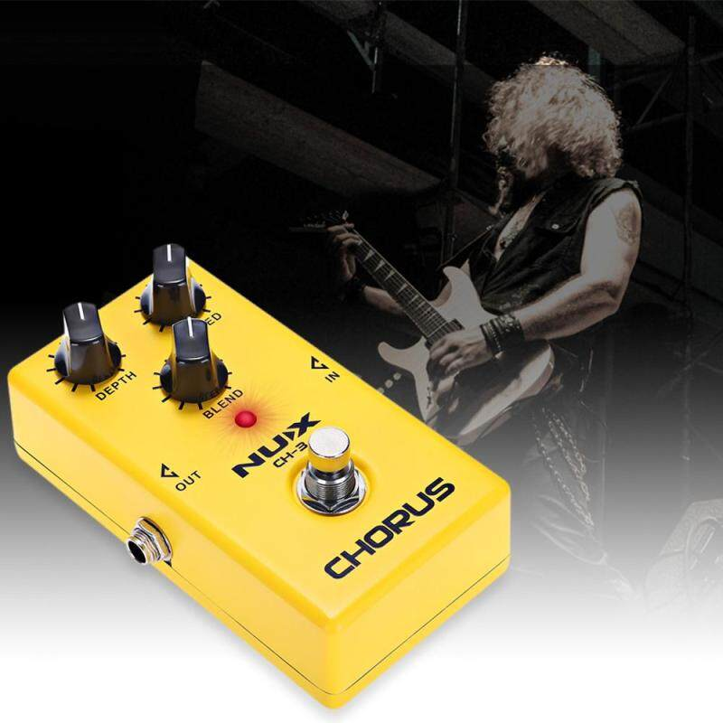 NUX CH - 3 Chorus Guitar Effect Pedal True Bypass Design ow Noise BBD High Quality Aluminum Alloy Housing Malaysia