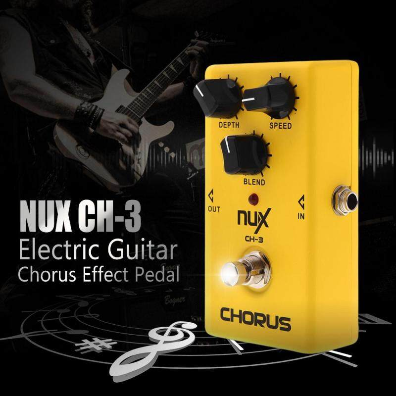 NUX CH-3 Guitar Electric Effect Pedal Chorus Low Noise BBD High Quality True Bypass Yellow Outdoorfree Malaysia