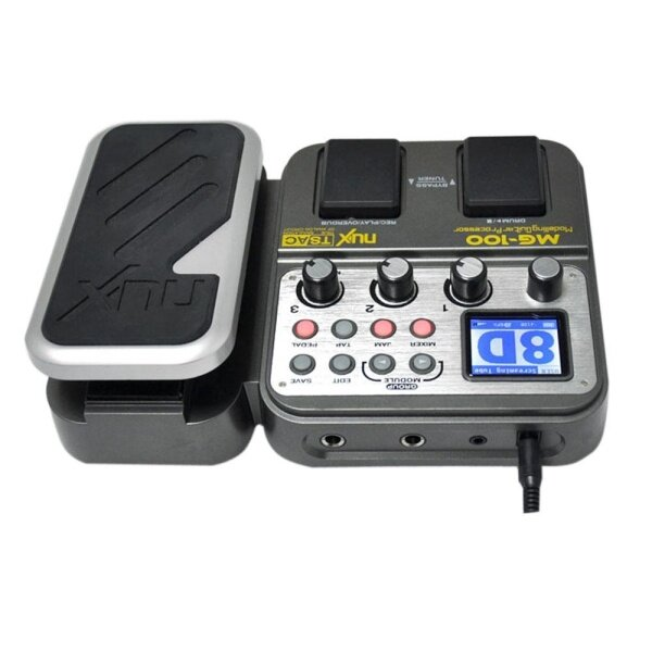 【Free Shipping】NUX MG-100 Modeling Guitar Processor Guitar Effect Pedal Drum Tuner Recorder 58 Effect 72 Preset Multi-function Malaysia