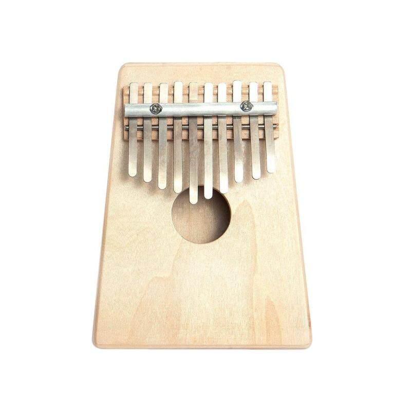 OSMAN 10 Key Finger Mbira Kalimba Thumb Piano Mini Pine Wood Percussion Instrument wood color