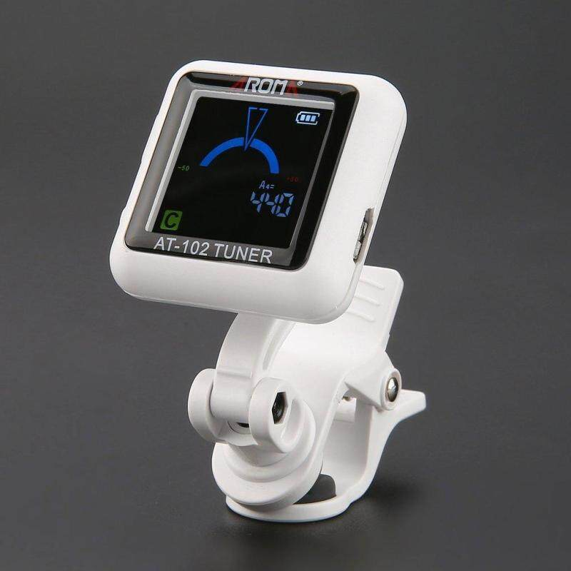 OSMAN AROMA AT-102 Electronic Tuner Rotatable Clip-on Guitar Tuner with Color Screen