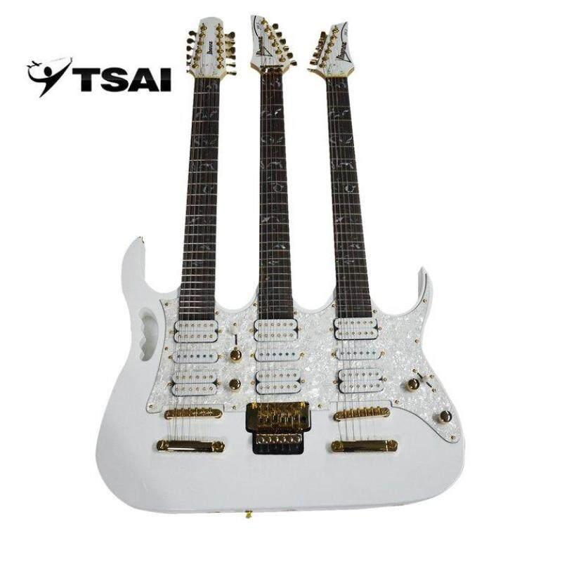 OSMAN Electric Guitar SY-NE-003 Three Necks Basswood Body Guitar Music Instrument Malaysia