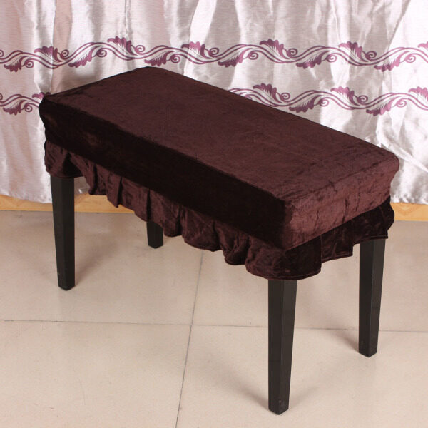 Piano Stool Chair Bench Cover Pleuche Decorated with Macrame 75 × 35cm for Piano Dual Seat Bench Universal Malaysia