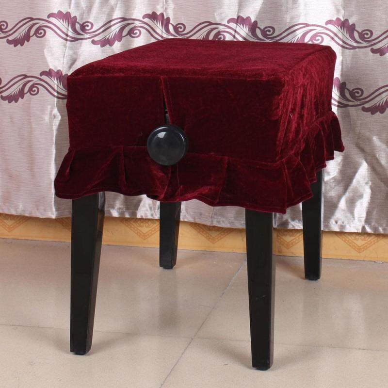 Piano Stool Chair Cover Pleuche Decorated with Macrame 55 × 35cm for Piano Single Chair Universal Malaysia