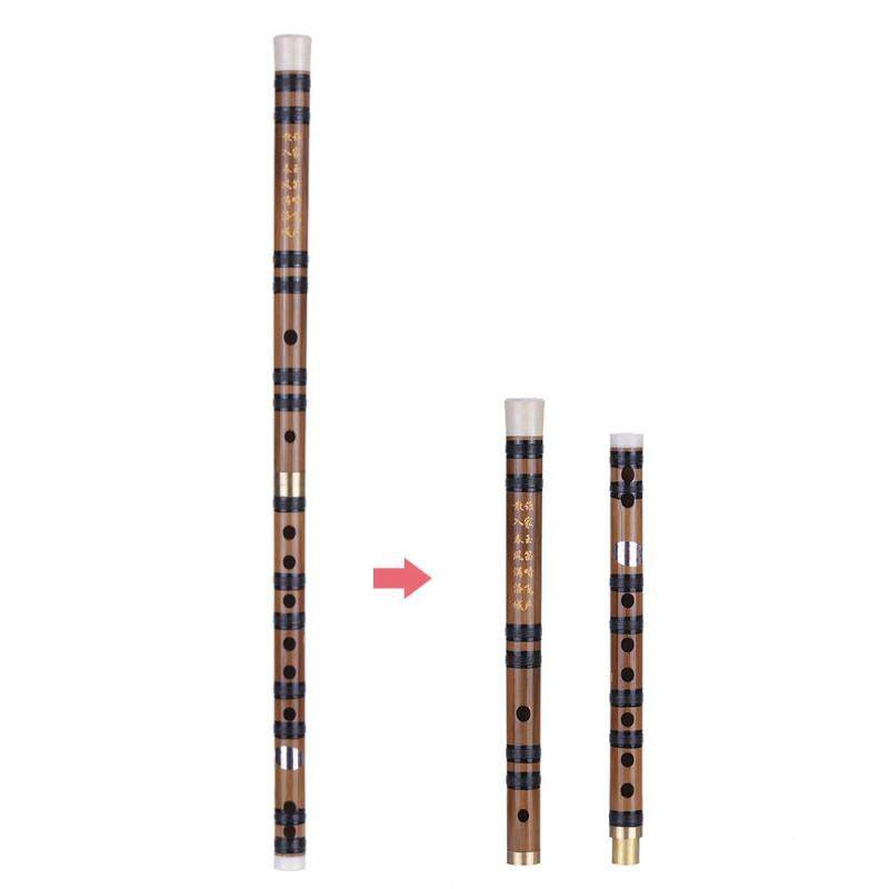 Pluggable Handmade Bitter Bamboo Flute/Dizi Traditional Chinese Musical Woodwind Instrument in E Key for Beginner Study Level Malaysia