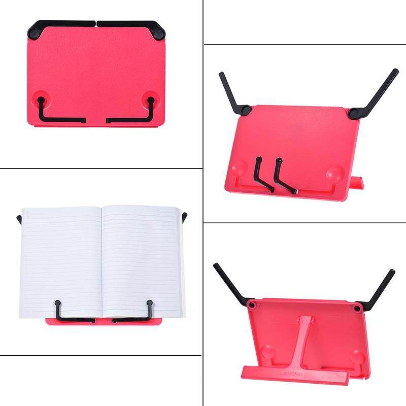 Portable Foldable Music Score Sheet Stand Holder Support Bookend Bookstand Bookholder Reading Frame for iPad Laptop Tablature Cookbook Rose Red Malaysia