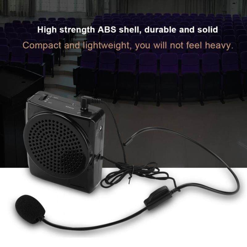 Portable Rechargeable Voice Loud Booster Amplifier Microphone Teaching Speaker w/ Waistband US Malaysia