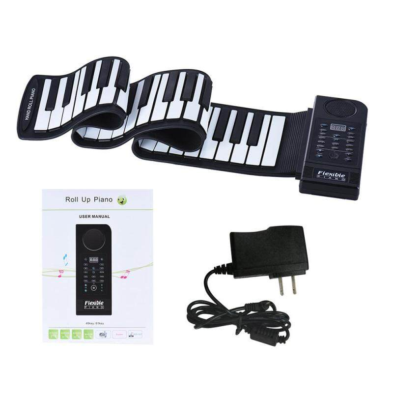 Portable Silicon 61 Keys Roll Up Piano Electronic MIDI Keyboard US PLUG Malaysia