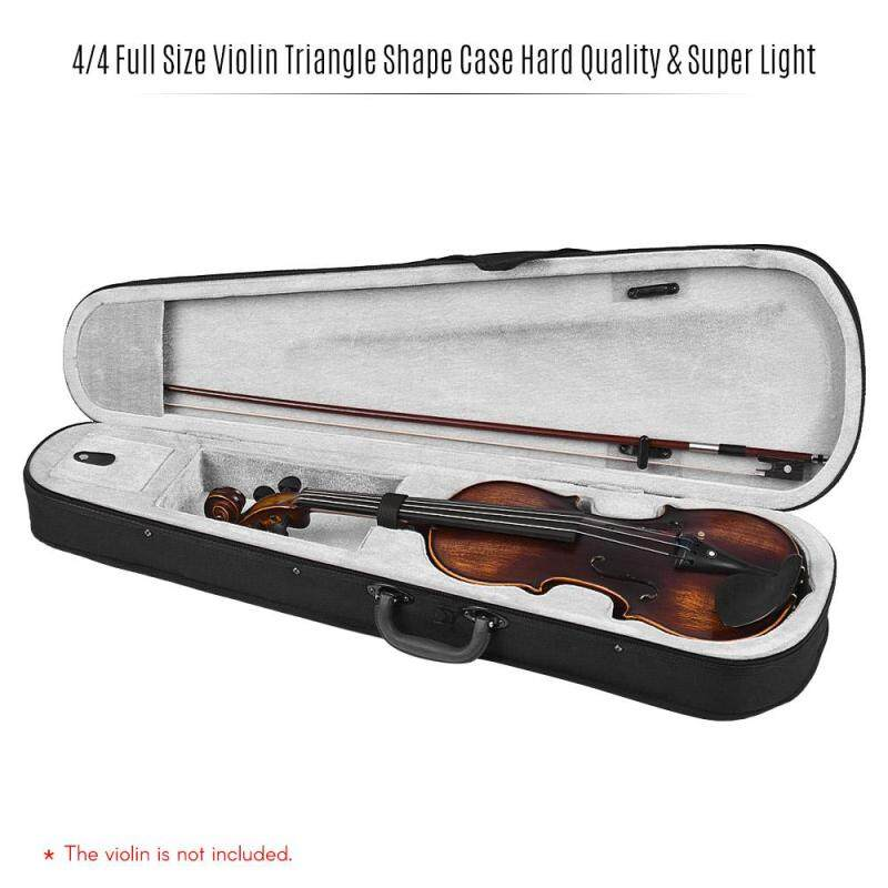 Professional 4/4 Full Size Violin Triangle Shape Case Box Hard & Super Light with Shoulder Straps Gray  (Grey) Malaysia
