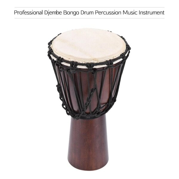 Professional 8 African Djembe Hand Bongo Drum Percussion Music Instrument Select Hardwood Body Goatskin Head Malaysia