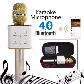 Q7 Portable Wireless Bluetooth Speaker Microphone Mic with Karaoke KTV Singing Stereo for Smartphones ...