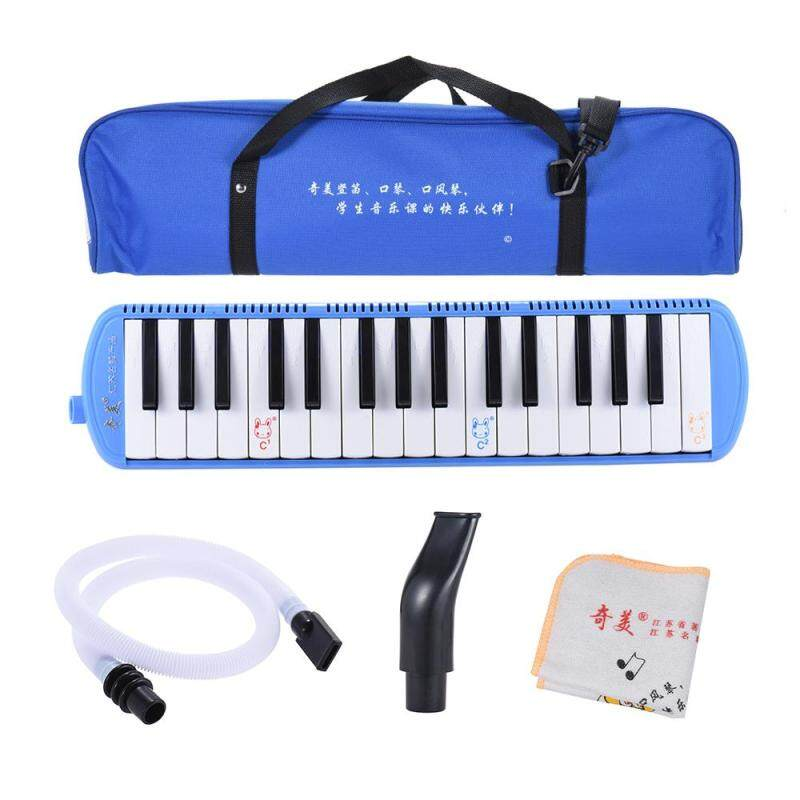 QIMEI QM32A-9 32 Piano Style Keys Melodica Musical Education Instrument for Beginner Kids Children Gift with Carrying Bag Blue Malaysia