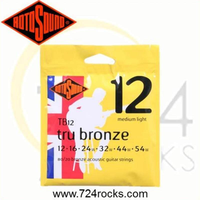 Rotosound TB12 Tru Bronze Acoustic Guitar Strings 12-54 Malaysia