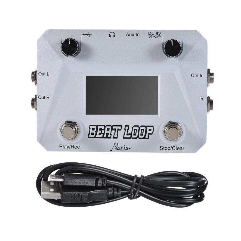 Rowin BEAT LOOP Loop Recording Guitar Effect Pedal Looper Max. 50min Recording Time Built-in 40 Drum Sounds with Pedal Footswitch Jack LCD Display USB Cable Malaysia