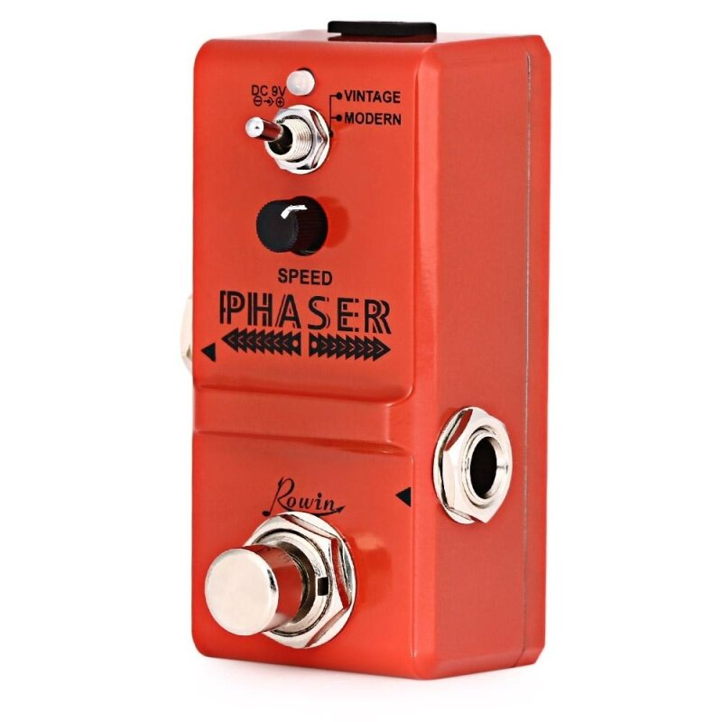 ROWIN LN - 313 Analog Phaser Guitar Effect Pedal True By Pass (Orange) Malaysia