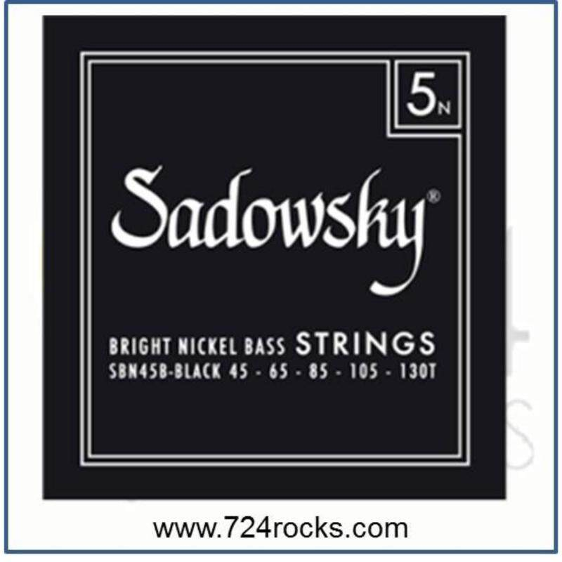Sadowsky 5N Black Bright Nickel 5 strings Bass Strings Standard 45-130 Malaysia