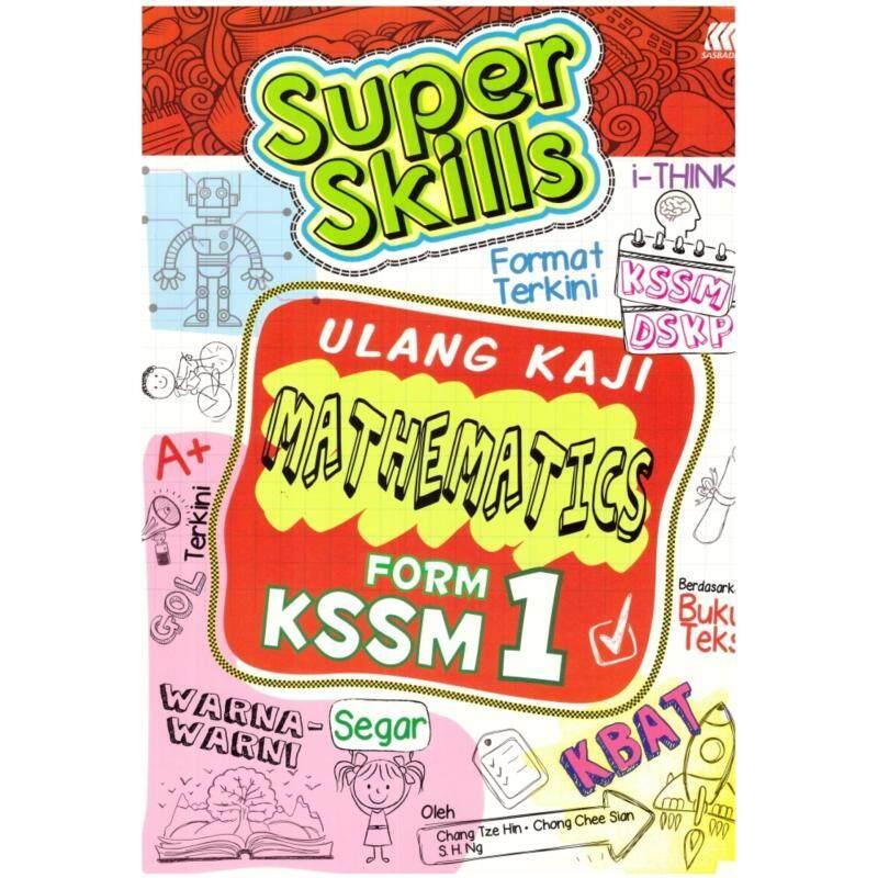 SASBADI Super Skills Ulang Kaji Mathematics Form 1 KSSM Malaysia