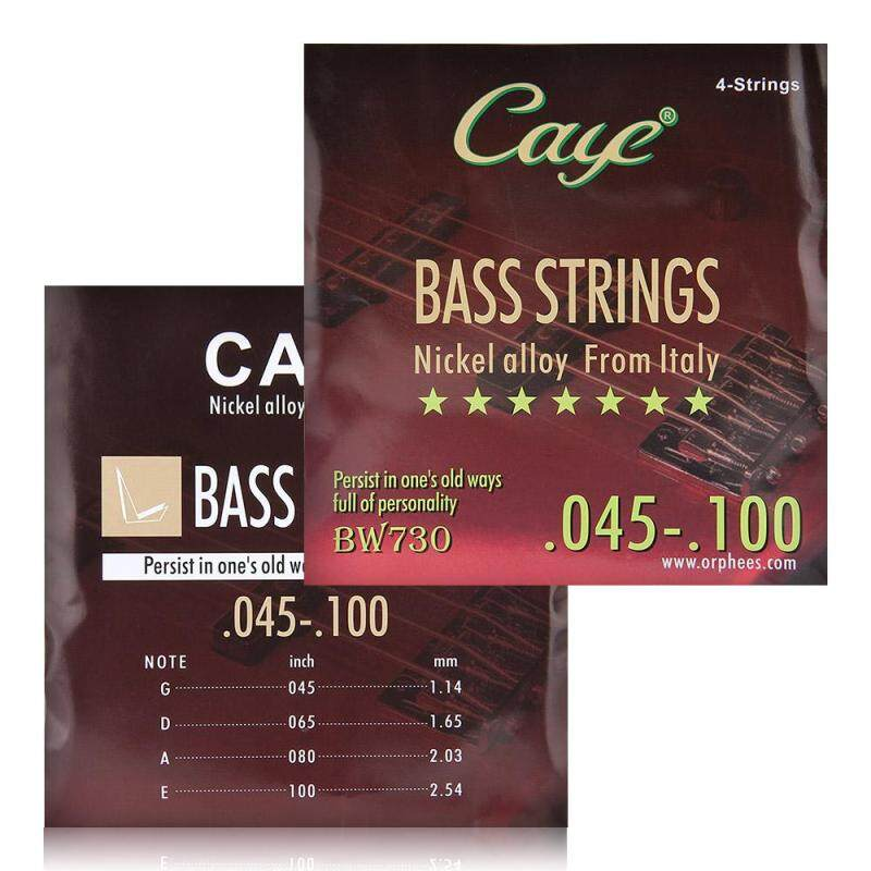 Set 4pcs 1#-4# CAYE BW730 Electric Bass Strings (.045-.100) Nickel Alloy Malaysia
