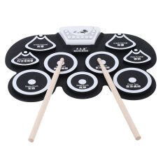 Silicone Portable Foldable Digital Usb Midi Roll-Up Electronic Drum Pad Kit With Stick And Foot Pedal By Tomtop.