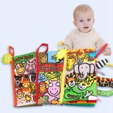 Soft Cloth Books For Baby Early Education Toys Activity Crinkle Animals Cloth Book For Toddler, Infants And Kids Newborn Crib Bed Baby Toys Kind For Random By Evertoner.