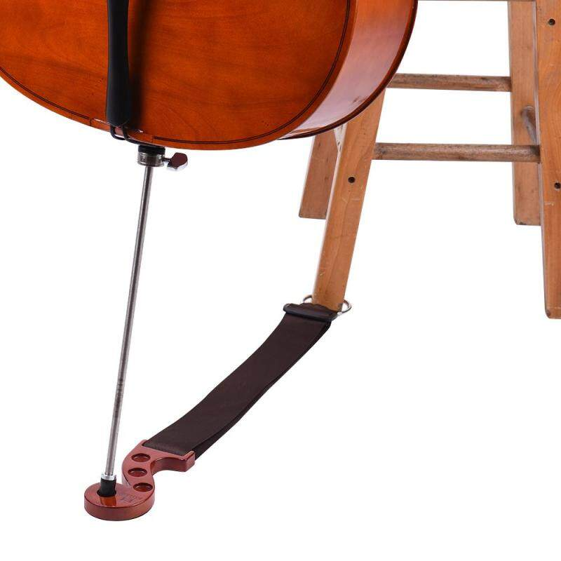Solid Wood Cello Endpin Non-slip Stop Holder Rest Anchor Protector Pad Red Wood Color Malaysia