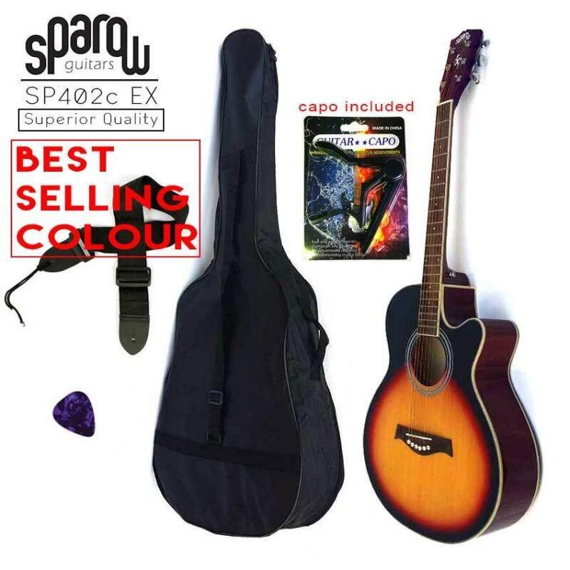 Sparow Acoustic 402c 40 Guitar Sunburst Colour (FOC 1 x Capo random Colour,  Non-Padded Bag & 1xPick) Malaysia