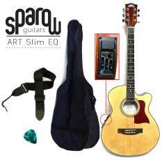 Sparow Art01 40 Slim With Pickup Eq Acoustic-Electric Guitar (natural) By Guitar Planet