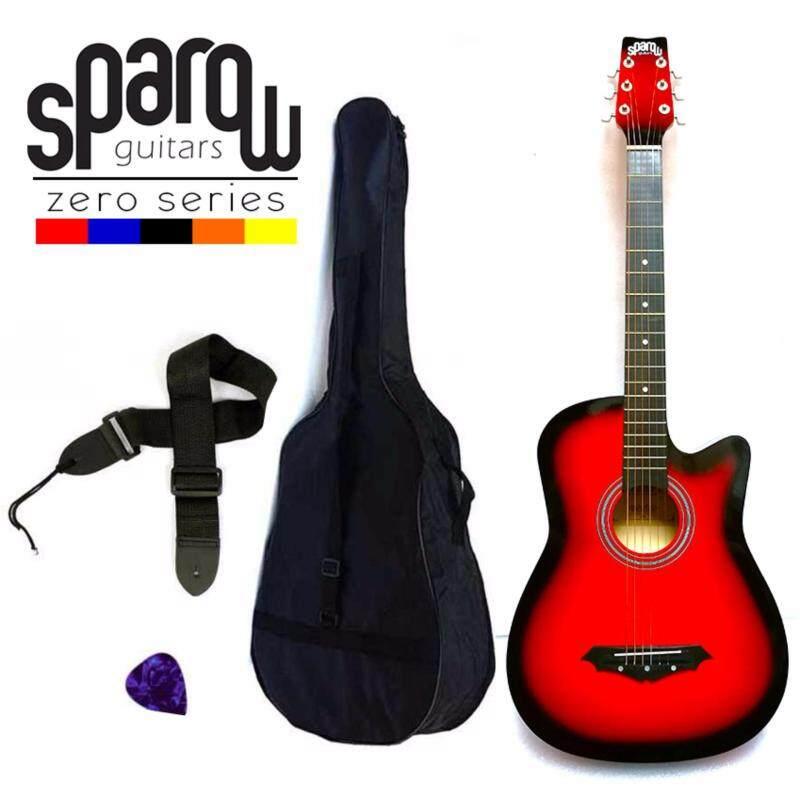 Sparow SPZero Beginners Acoustic Folk Cutaway Kapok Style Guitar 38 Inch (Redburst) Free Bag/Strap/Pick Malaysia