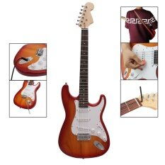 St Electric Guitar Basswood Body Rosewood Fingerboard With Gig Bag Picks Strap By Haitao.