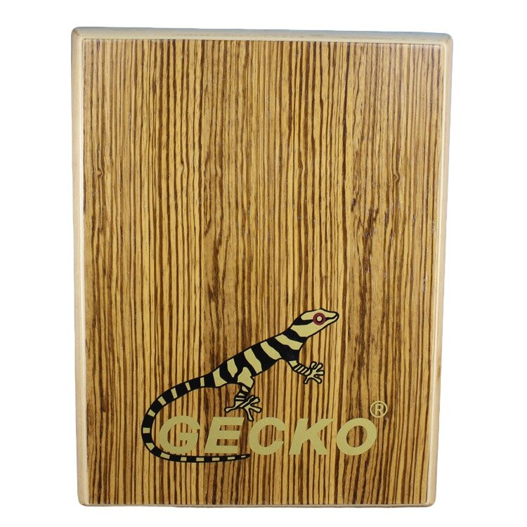 Tablet Percussion From Gecko--PAD-2 Zebra Wood Cajon Drum with Bag Brown - intl