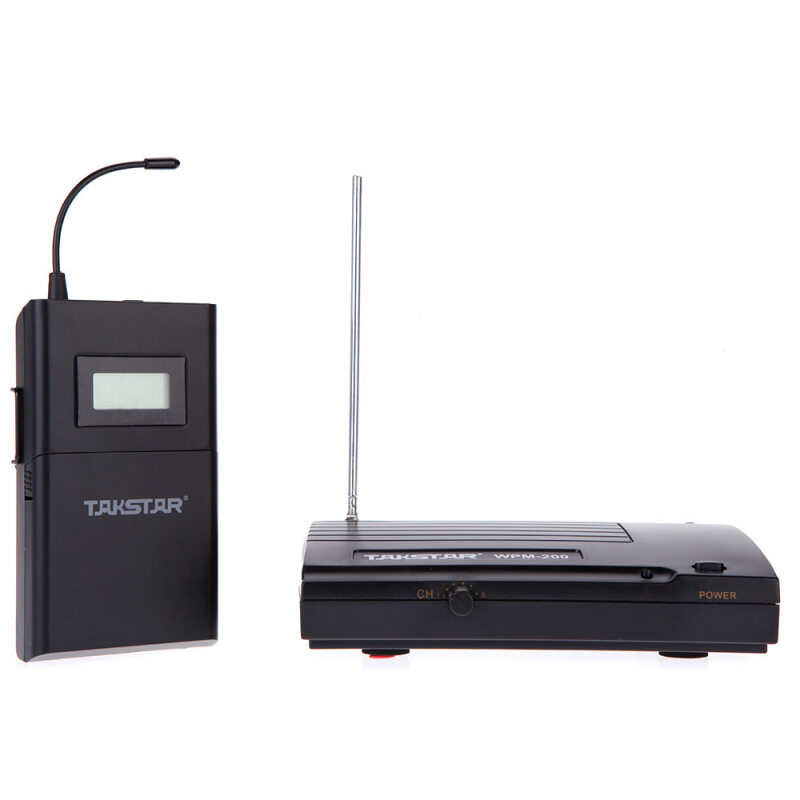 Takstar WPM-200 UHF Wireless Monitor System 50m Transmission Distance In-Ear Stereo Headphones Headset Transmitter Receiver LCD 6 Selectable Channels Malaysia