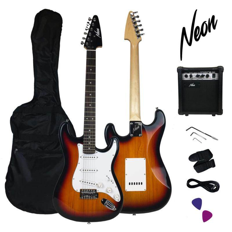 Taloha Neon Jumpstart Electric Guitar Package (Sunburst) + 10W Guitar Amplifier + Full Set Accessories Malaysia