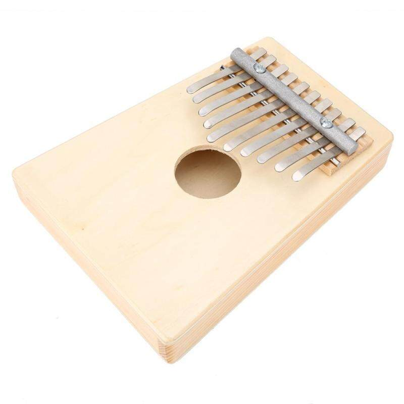 Traditional 10 Keys Thumb Piano for Children Musical Instrument Accompaniment(Wood Color) Malaysia