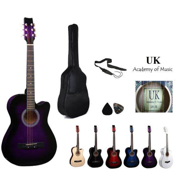 UK Acoustic Guitar 38 Inch (Purple)+Bag+2 Picks+Strap Malaysia