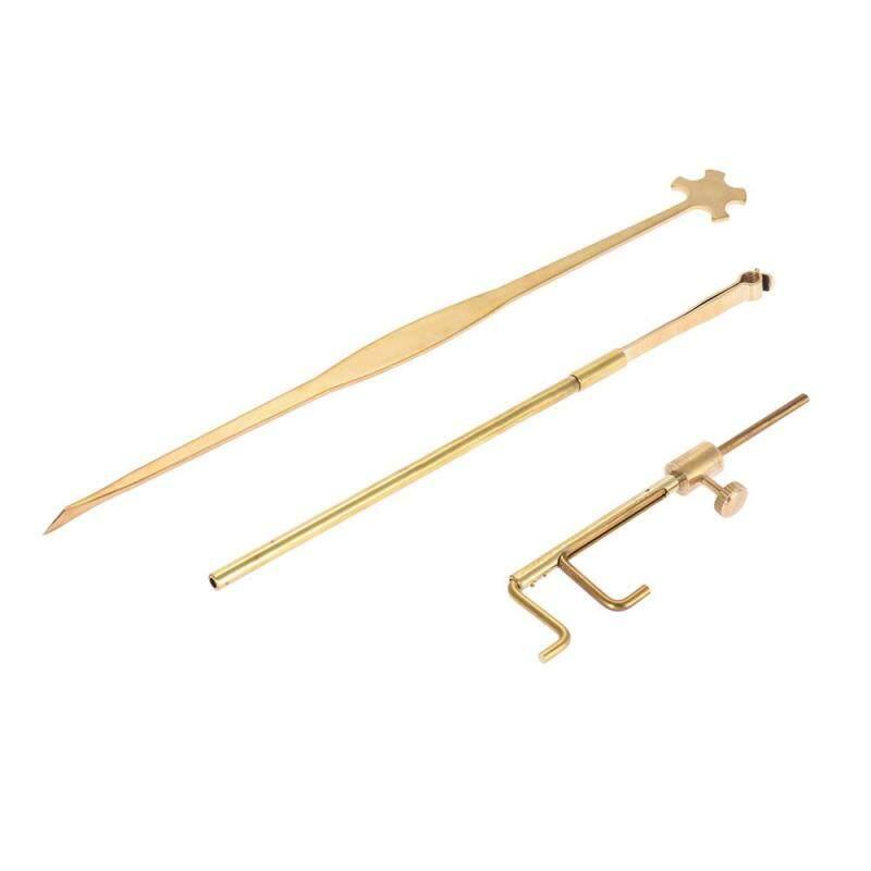 Violin Luthier Tools Kit Set Sound Post Gauge Measurer & Retriever Clip & Setter Brass Malaysia