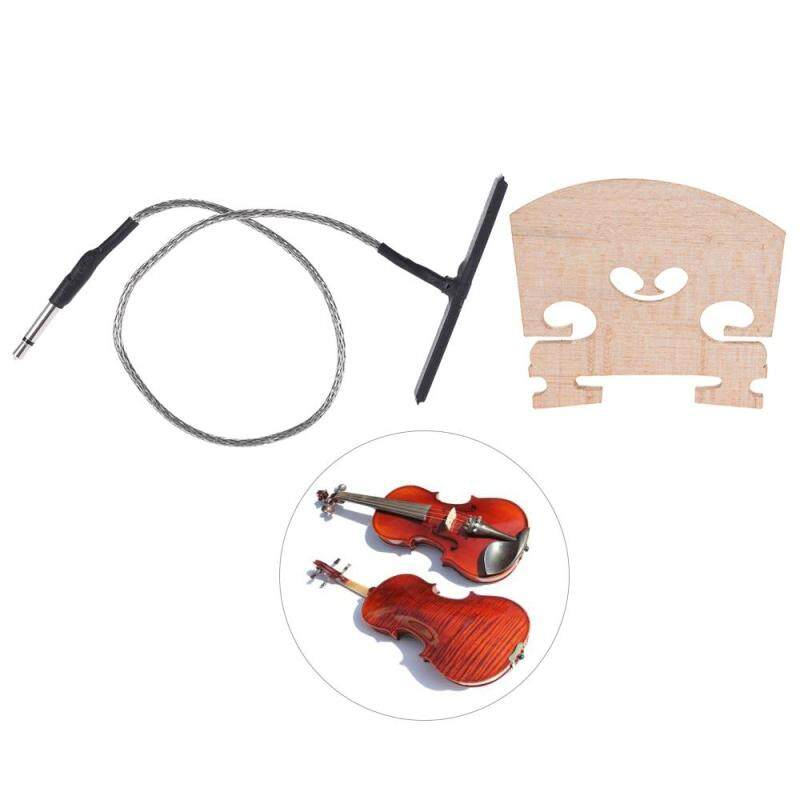Violin Upright Bridge with Rod Pickup Piezo Set for 4/4 Full Size Electric Violin Parts Replacement ^ Malaysia