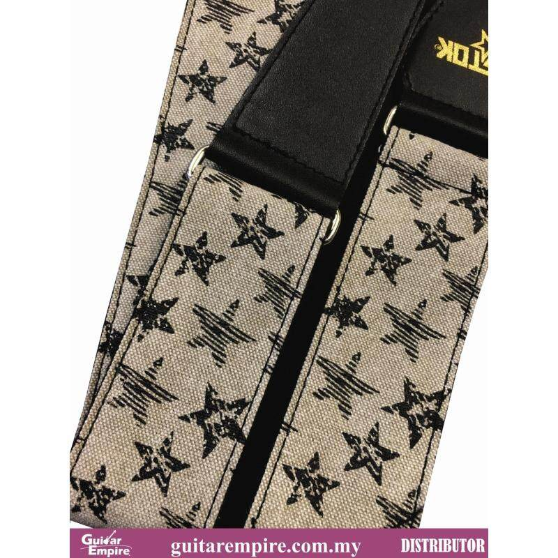 Vostok Guitar Strap Beige Star Designed S093 -Suitable For Acoustic Guitar, Electric Guitar And Bass Guitar Malaysia