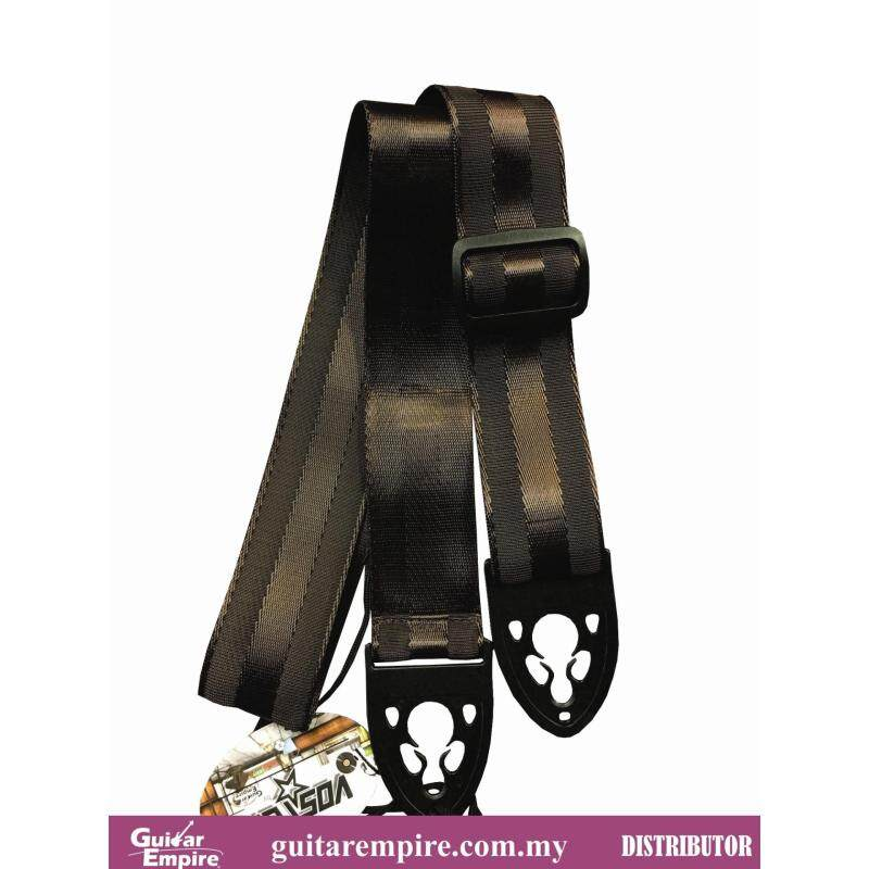 Vostok Guitar Strap Brown S219 Locking Design-Suitable For Acoustic Guitar, Electric Guitar And Bass Guitar Malaysia