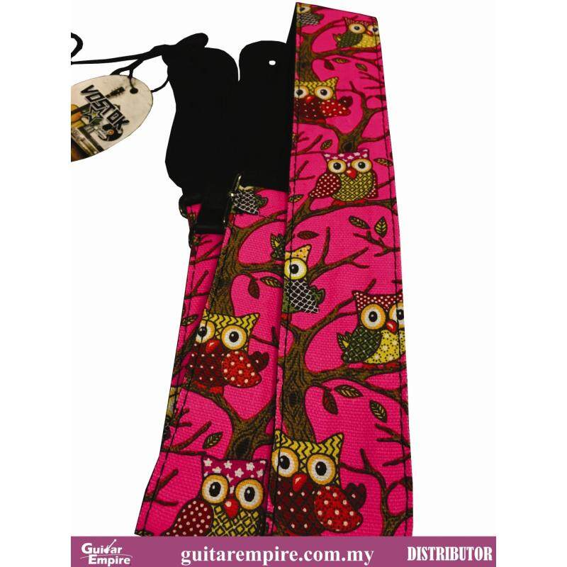 Vostok Guitar Strap Pink Owl Designed S086 -Suitable For Acoustic Guitar, Electric Guitar And Bass Guitar Malaysia
