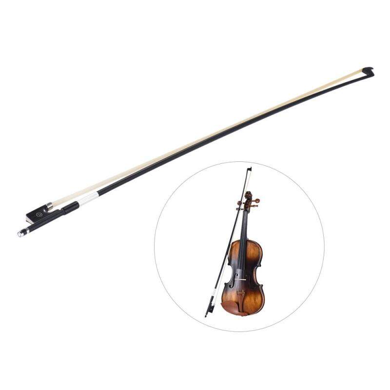 Well Balanced Carbon Fiber 4/4 Violin Fiddle Bow Round Stick Exquisite Horsehair Ebony Frog Malaysia